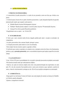 AÇÕES ESPECIAIS- AÇÕES POSSESSÓRIAS