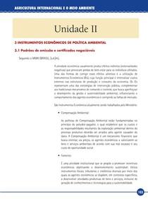 Agricultura Internacional e o Meio Ambiente - Livro-Texto - Unidade II