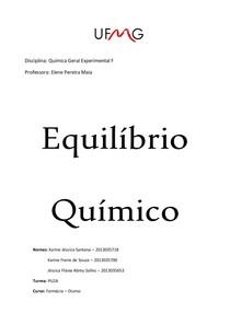 Relatório Equilibrio Químico