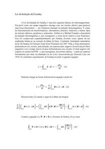 Lei da Indução de Faraday
