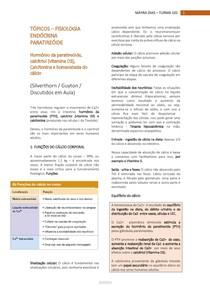 FISIOLOGIA ENDÓCRINA - Hormônio da paratireóide, calcitriol (vitamina D3), calcitonina e homeostasia do Cálcio