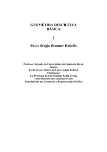 GEOMETRIA DESCRITIVA BÁSICA - Paulo Sérgio Brunner Rabello