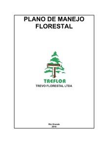PLANO DE MANEJO  FLORESTAL TREFOR