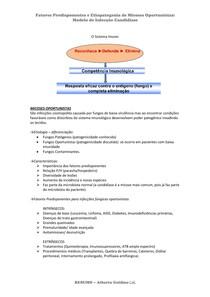 Fatores Predisponentes e Etiopatogenia das Micoses Oportunistas - RESUMO