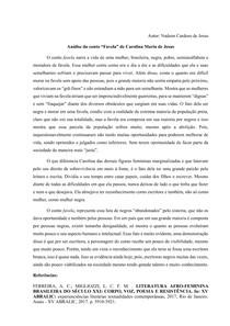Análise do conto Favela