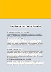 Questões Sistema Genital Feminino