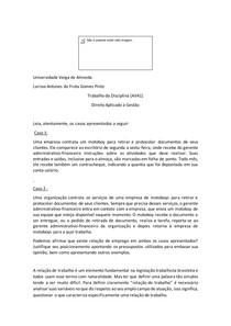 Relação de Emprego e Relação de Trabalho AVA2 UVA ADM Larissa Frota