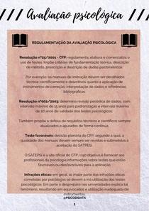 Regulamentação da avaliação psicológica