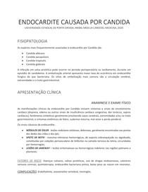 ENDOCARDITE CAUSADA POR CANDIDA