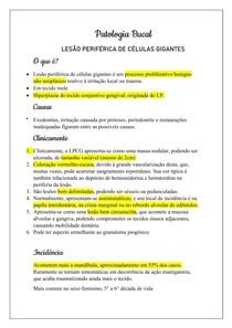 Patologia Bucal - Lesão de células gigantes periférica