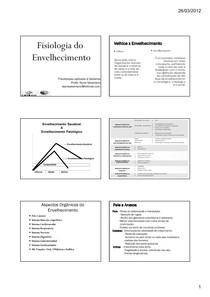 Aula geriatria - Fisiolog Envelhecim PDF