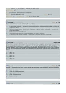 contabilidade de custo AV