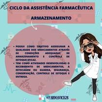 CICLO DA ASSISTÊNCIA FARMACÊUTICA - ARMAZENAMENTO