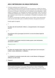 AOLS 3 METODOLOGIA DA LINGUA PORTUGUESA