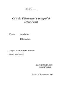 Calculo I -  Introdução a Integrais