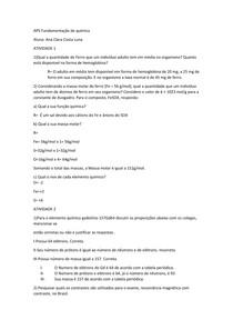 APS fundamentação de quimica