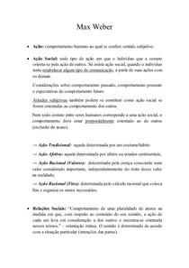 Max Weber - Resumo
