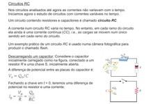 Circuitos RC - Capacitores e resistores