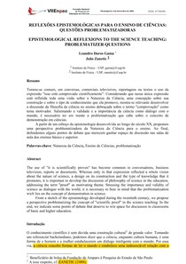 Reflexões epistemológicas para o ensino de ciências