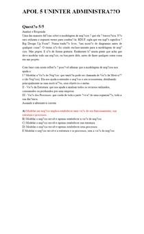 APOL 5 UNINTER ADMINISTRAÇÃO COMPORTAMENTO EMPREEDEDOR