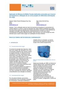 WEG aplicacao de motores de media tensao dedicados acionados por inversor de frequencia artigo tecnico portugues br