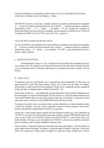 MODELO DE AÇÃO DE REGULAMENTAÇÃO DE VISITA