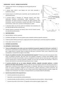 CARDIOLOGIA – AULA 01 – DOENÇA VALVAR MITRAL
