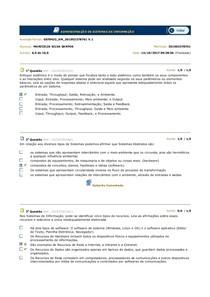 ADMINISTRAÇÃO DE SISTEMAS DE INFORMAÇÃO AP3