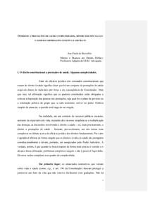 6- O DIREITO A PRESTAÇÕES DE SAÚDE