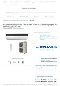 Ar Condicionado Split Piso Teto Inverter 35000 BTUs Samsung Digital Inverter Frio 220V AC036JXADKC_VN - Piso-Teto no CasasBahia com br