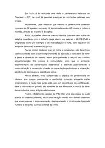 Relatório de Visita Orientada Penitenciaria Industrial de Cascavel - PIC