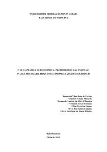 Relatório de Bioquimica III e IV - Enzimas