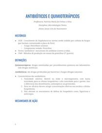 Resumo - Antibióticos e Quimioterápicos
