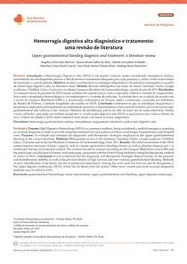 hemorragia digestiva alta (revisão de literatura)