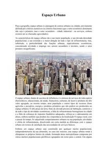 Espaço Urbano