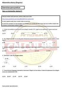 Exercícios básicos de matemática - ângulos #EXCLUSIVOPD