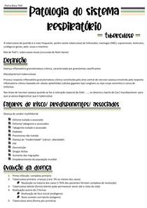 Patologia do sistema respiratório - tuberculose