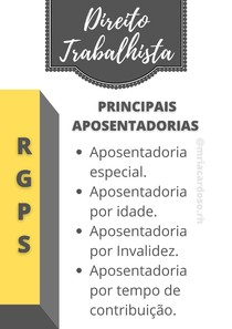 RGPS - Tipos de Aposentadorias