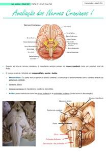 Avaliação dos Nervos Cranianos I