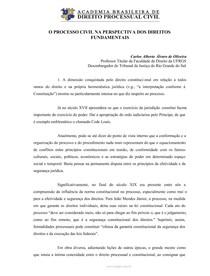 Carlos Alberto Alvaro de Oliveira   O processo civil na perspectiva dos direitos fundamentais
