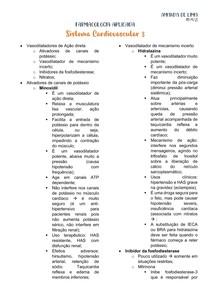 FARMACOLOGIA DO SISTEMA CARDIOVASCULAR - PARTE 2