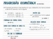 Progressão Geométrica (P.G)