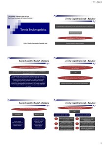 Psicologia do desenvolvimento - Teoria sociocognitiva (slides)