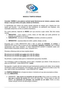 Exercicios de Portugues - Verbo