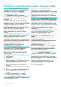 Hiperplasia coronóide, hiperplasia condilar e hipoplasia condilar