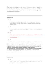 Av1 - Licenciatura - Língua Brasileira de Sinais - Libras