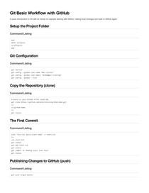 Git Basic Workflow with GitHub