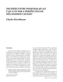 Texto 2 KIRSCHBAUM   Decisoes entre pesquisas quali e quanti sob a perspectiva de mecanismos causais (1)