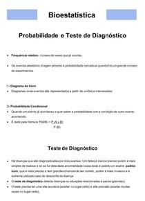 Bioestatística 05- Probabilidade e Teste de Diagnóstico