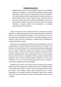 Crime e Castigo Dostoievski - Resumo e trabalho avaliativo